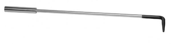 Schürhaken, aus vernickelten und lackierten Stahl, Länge 63cm