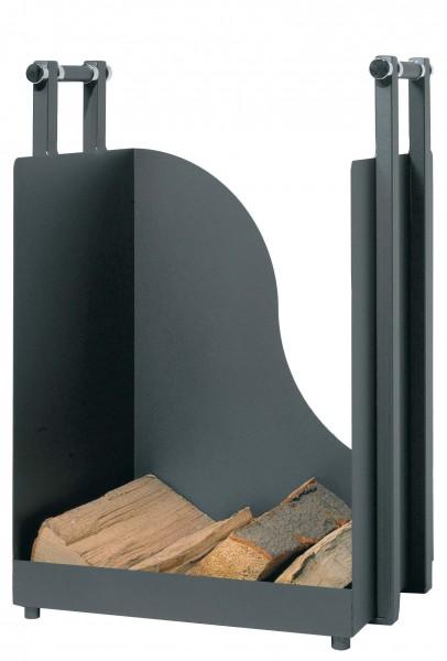 Holzkorb anthrazit mit einer Höhe ca. 57cm