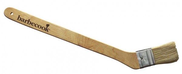 Grill Pinsel, mit Naturhaar und Birkenholz Griff, Länge 47cm