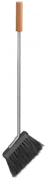 Besen aus Edelstahl mit Buchen Griff, Länge ca.  56cm
