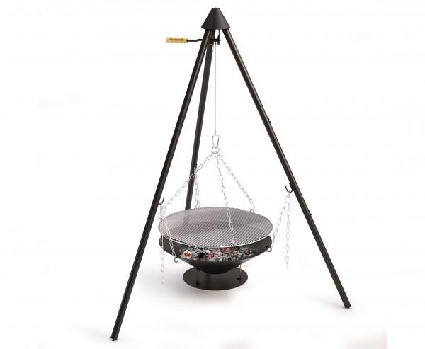 """Dreibein Grill """"Junko"""" mit Gestell 166cm, inklusiv Feuerschale und Grillrost"""