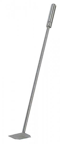 Kachelofenbesteck Schaber Edelstahl matt gebürstet, Länge ca. 70cm