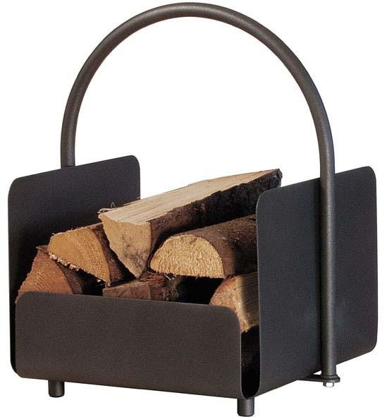 Holzkorb anthrazit farbig beschichtet, seitlich geschlossen, H: 51,50cm x  B: 41cm x  T: 35cm