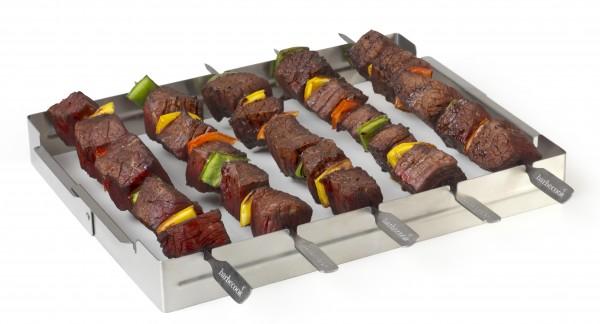 Grillspießhalter für 5 Spiesse aus Edelstahl