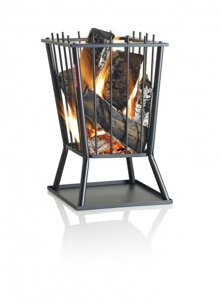 Feuerkorb, quadratisch moderne Form, aus lackiertem Stahl, mit 40x40x60cm