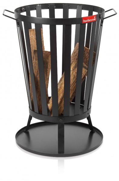 Feuerkorb Garten, Retro Modell aus Stahl, Höhe 67cm, Durch. 43cm