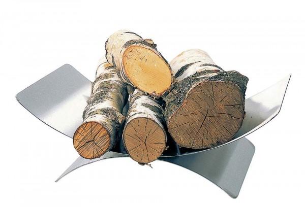 Holzkorb Edelstahl matt gebürstet, Abmessungen L:30cm x B :44cm