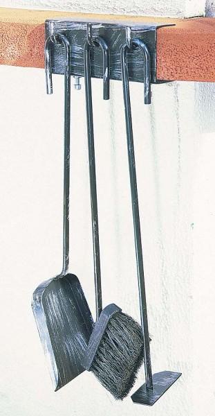 Garten Grillbesteck Schmiedeeisen, 3-teilig, schwarz patiniert verzinkt, Höhe 53cm